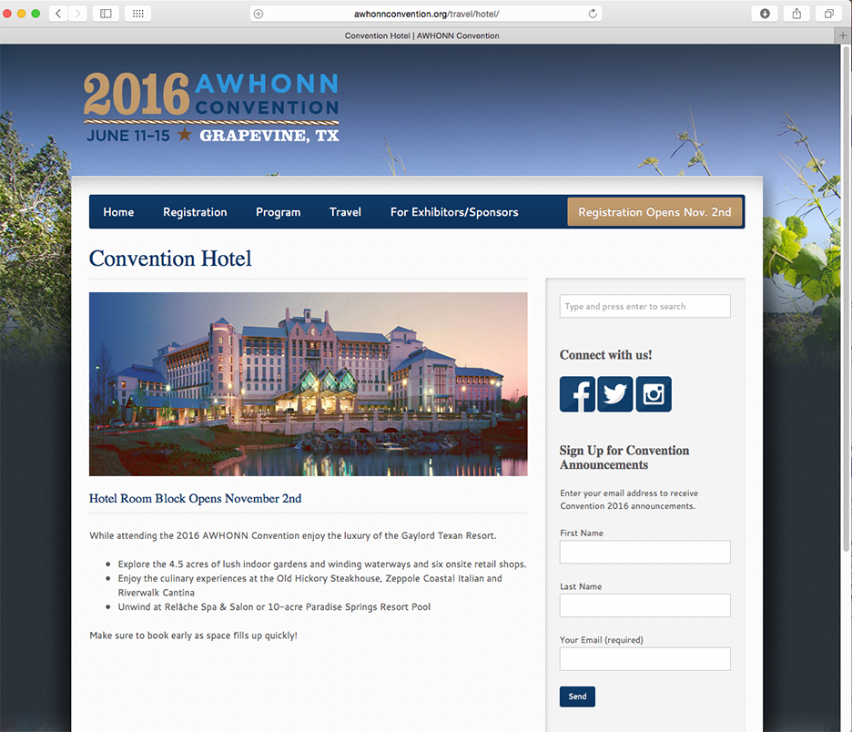 AWHONN Convention Travel Page