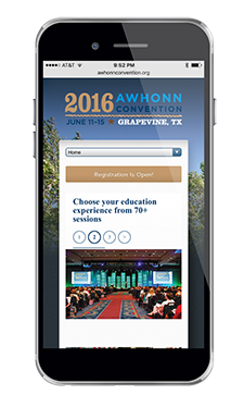 AWHONN Convention Mobile Homepage